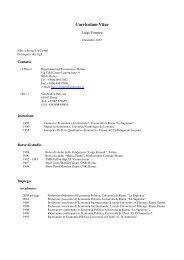 Curriculum Vitae - dipartimento di economia e diritto