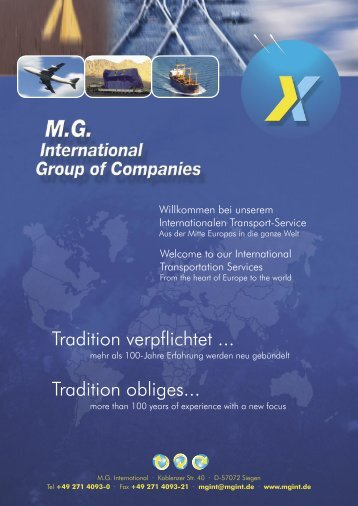 Group of Companies - MG International