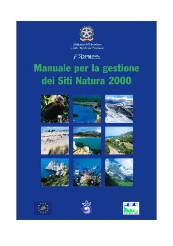 Manuale Gestione Siti Natura 2000 - Dipartimento di Biologia