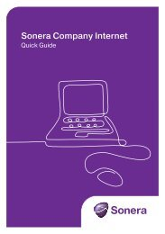 Sonera Company Internet