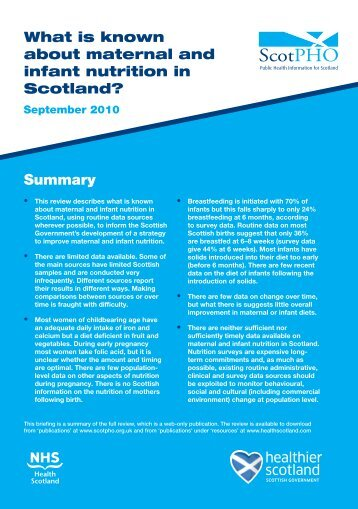 Summary - Scottish Public Health Observatory