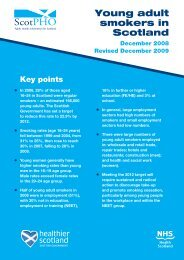 Young adult smokers in Scotland - Scottish Public Health Observatory