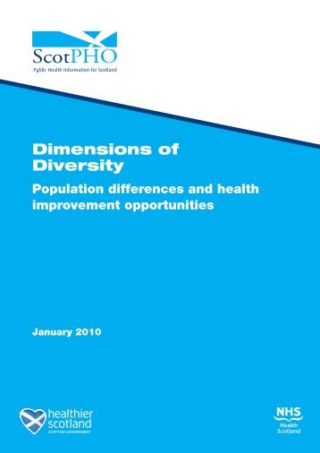 Dimensions of Diversity - Scottish Public Health Observatory