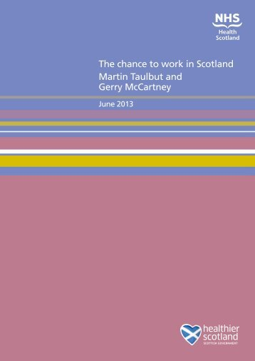 The chance to work in Scotland - Scottish Public Health Observatory