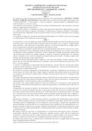 Estratto statuto sociale - Cooperativa Agricola di Legnaia