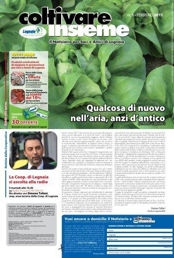 Numero 1 - 2011 Gennaio/Febbraio - Cooperativa Agricola di Legnaia