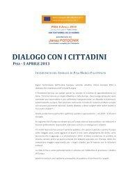 dialogo con icittadini pisa - 5 aprile 2013 - Filippeschi, Marco