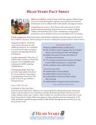 Head Start Fact Sheet 2010 - Administration for Children and Families