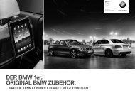 DER BMW 1er. ORIGINAL BMW ZUBEHÖR.