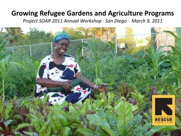 Growing Refugee Gardens and Agriculture Programs