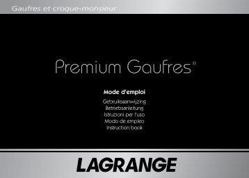 Gaufres et croque-monsieur - Lagrange