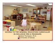 access to the general education curriculum in inclusive pre-k ... - TATS