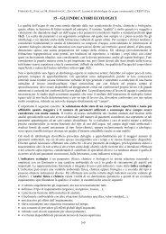 15 - GLI INDICATORI ECOLOGICI - Crestsnc.it