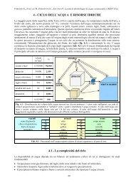 4 - CICLO DELL'ACQUA E RISORSE IDRICHE 4.1 - La ... - Crestsnc.it
