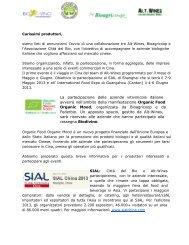 La partecipazione delle aziende vitivinicole italiane ... - Città del Bio