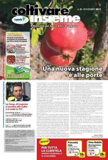 Numero 9 - 2011 - Novembre - Cooperativa Agricola di Legnaia