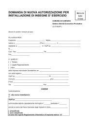 domanda di nuova autorizzazione per installazione di insegne d