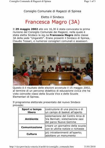 Elezione del Consiglio Comunale [t] - Scuolavicospinea.it