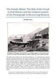 The Family Album : the role of the visual in oral ... - Cornish Story