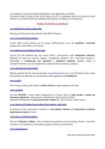 Sitografia[a] - Scuolavicospinea.it