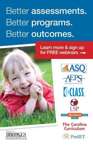Better assessments. Better programs. Better outcomes. - Brookes ...