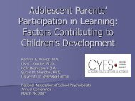 Adolescent Parents' Participation in Learning: Factors ... - CYFS