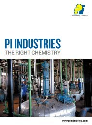 The righT chemisTry - PI Industries