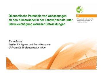 Ökonomische Potentiale von Anpassungen an den ... - adagio