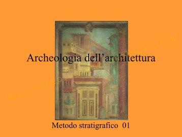 Il metodo stratigrafico