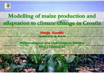 Modelling of maize production and adaptation to climate ... - adagio