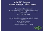 Methods and spatial analysis for the Adagio agricultural adaptation ...
