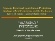 Preliminary findings of child outcomes and the mediating ... - CYFS