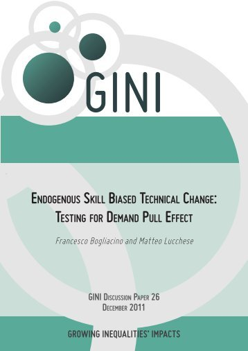 endogenous skill biased technical change: testing for ... - AIAS