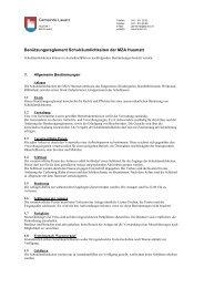 Benützungsreglement Schulräumlichkeiten der ... - Gemeinde Lauerz