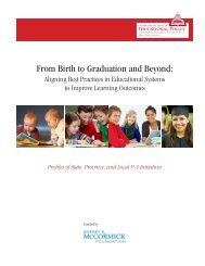 From Birth to Graduation and Beyond: - Leadership to INtegrate the ...