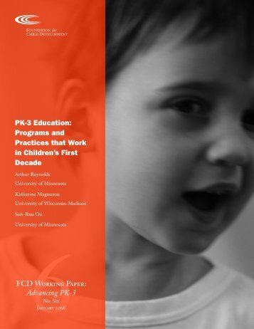 PK-3 Education: Programs and Practices that Work in ... - PA Keys