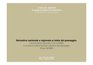 Lezione del 7 gennaio 2013 - Parco dell'Adamello