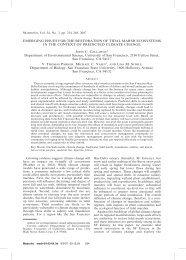 EMERGING ISSUES FOR THE RESTORATION OF TIDAL MARSH ...