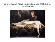 Johann Heinrich Fussli, Incubo, olio su tela, 1781 - Università degli ...