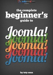 THE COMPLETE BEGINNERS GUIDE TO JOOMLA