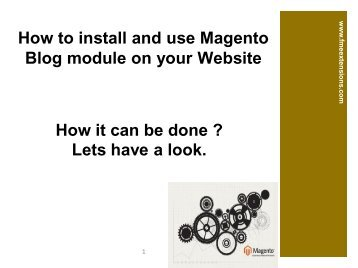 Magento Blog Extension For web stores
