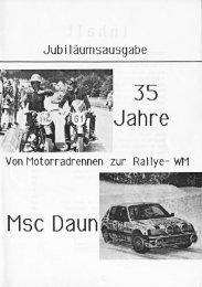 Jubiläumsausgabe 35 Jahre MSC Daun