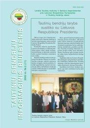 Tautinių bendrijų informacinis biuletenis Nr. 2 - VšĮ Tautinių bendrijų ...