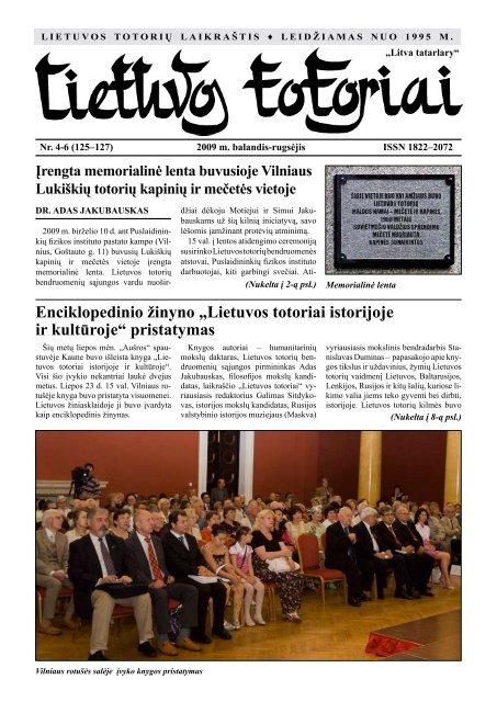 Lietuvos totoriai Nr. 125-127 - Tautinių bendrijų namai