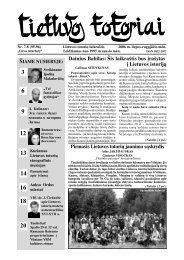 Pirmasis Lietuvos totoriø jaunimo sàskrydis Dainius Babilas: Ðis ...