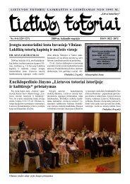 Lietuvos totoriai istorijoje - VšĮ Tautinių bendrijų namai
