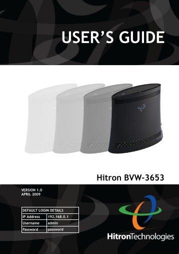 Hitron User's Guide