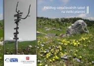 Predlog označevalnih tabel na Veliki planini - Kamnik