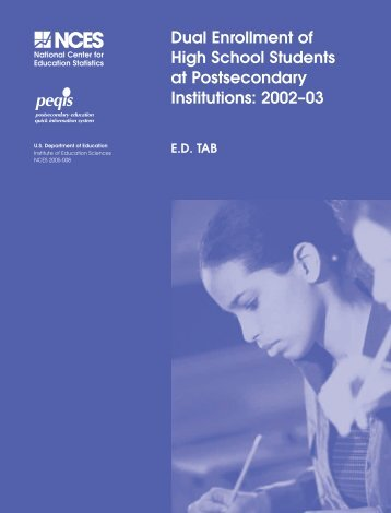 Dual Enrollment of High School Students at Postsecondary Institutions