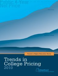 Trends in College Pricing 2010 - College Board Advocacy & Policy ...
